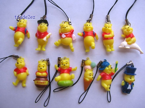 Winnie The Pooh Cell mobile phone chain straps charms