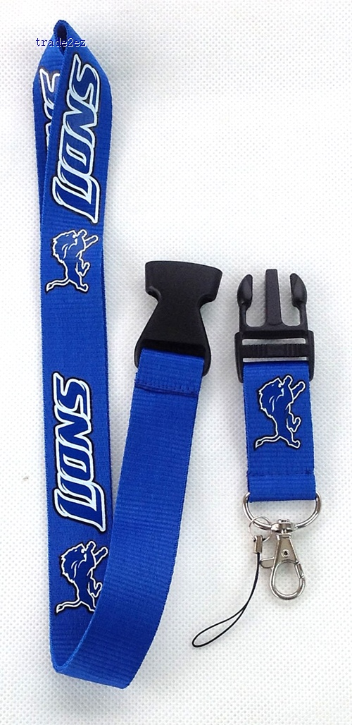 Detroit Lions Logo Lanyard/ MP3/4 cell phone/ keychains /Neck Strap Lanyard