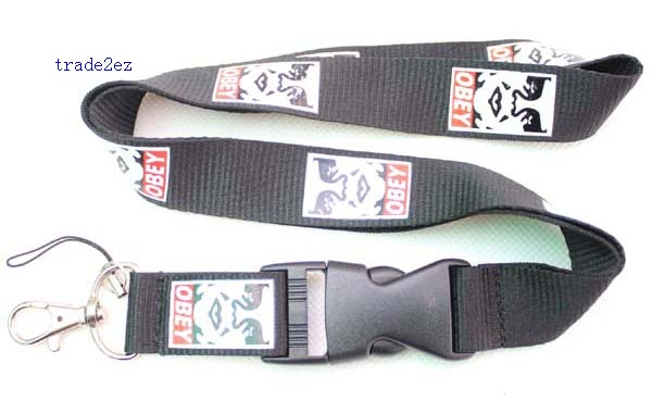 obey Lanyard ID card Phone Strap
