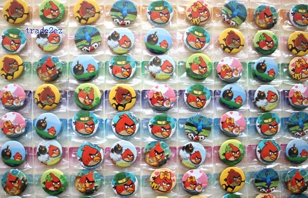 Angry bird 2.5cm pin badge