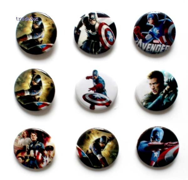 Captain America 2.5cm badge