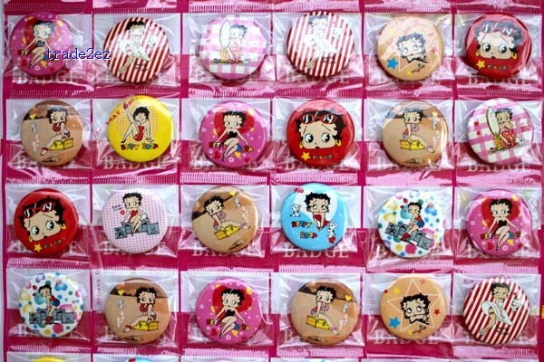Betty boop 3 cm badge