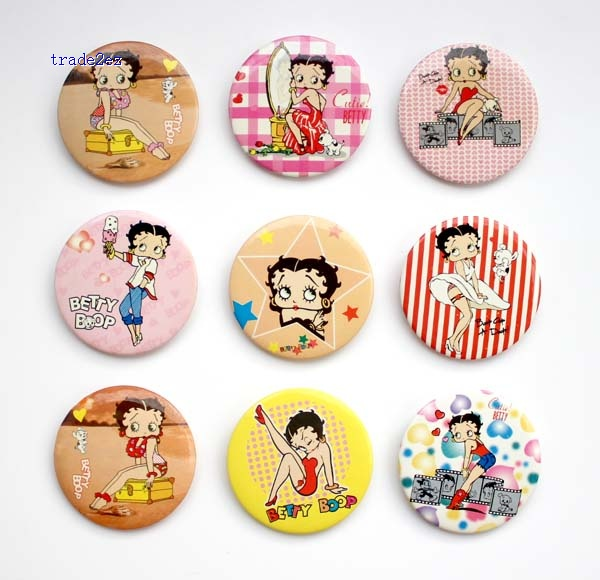Betty boop 4.5 cm badge