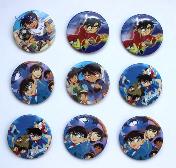 Detective Conan 4.5 CM BADGE new