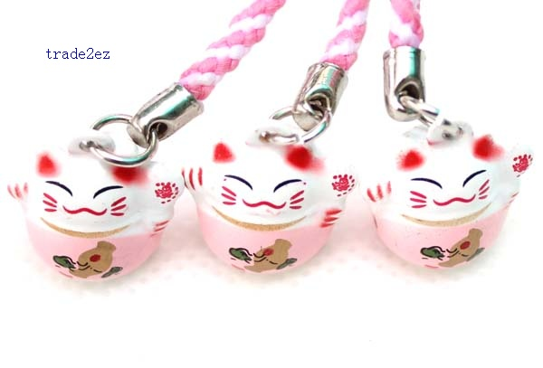 pink lucky cat ring