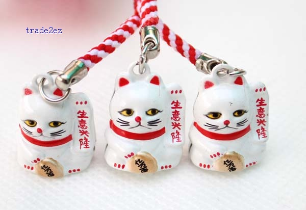 business good lucky cat ring bell