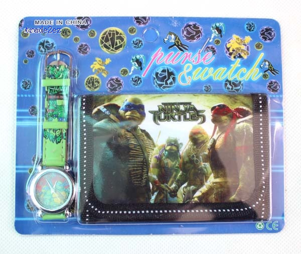 ninja Turtles wallet and watch set