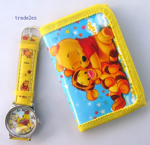 winnie the pooh wallet and watch set