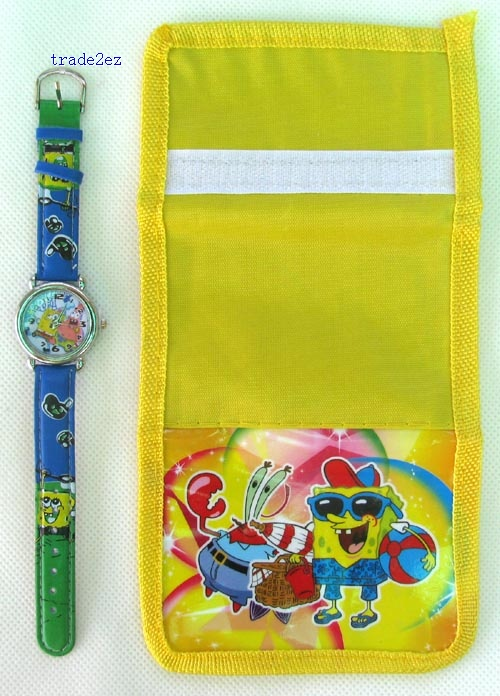 spongebob wallet and watch set new