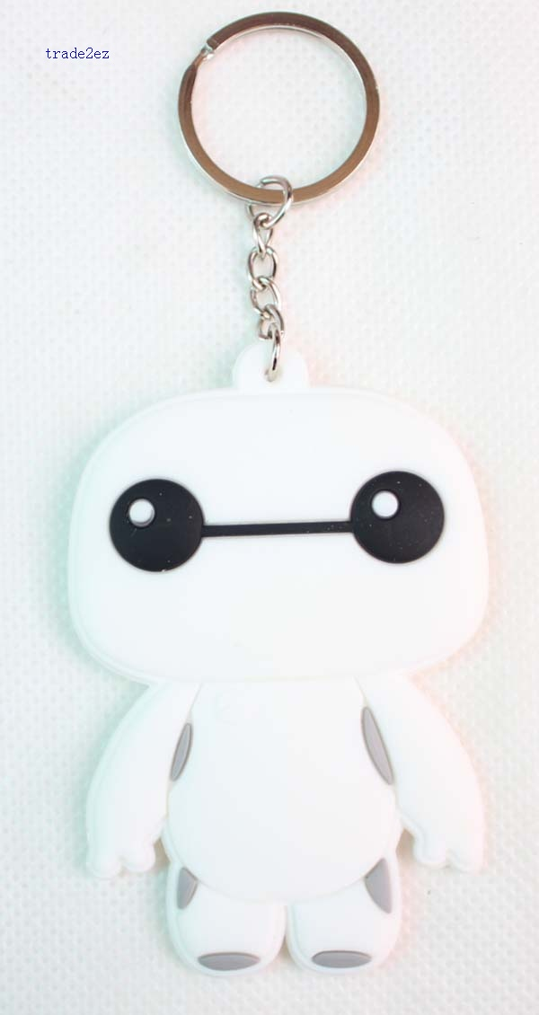 baymax red and white key chain