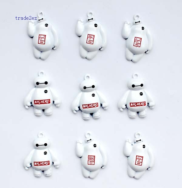 baymax red and white pendant
