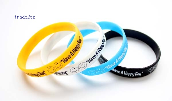 have a happy day silicone bracelet