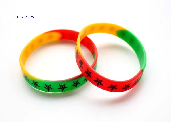 colors Star silicone bracelet