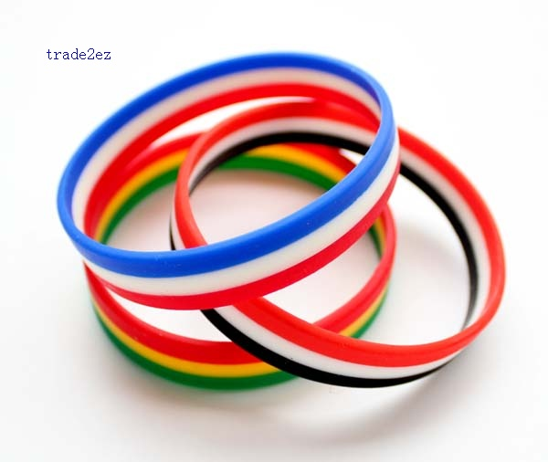 3 colors mix silicone bracelet