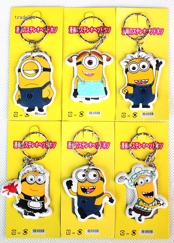Despicable Me Minions foam keychain