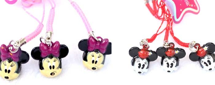 Minnie Mouse Cartoon Strap & Bell Charms