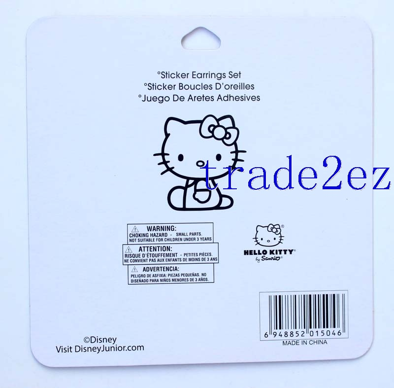 Animation Hello kitty Cartoon Earring Sticker