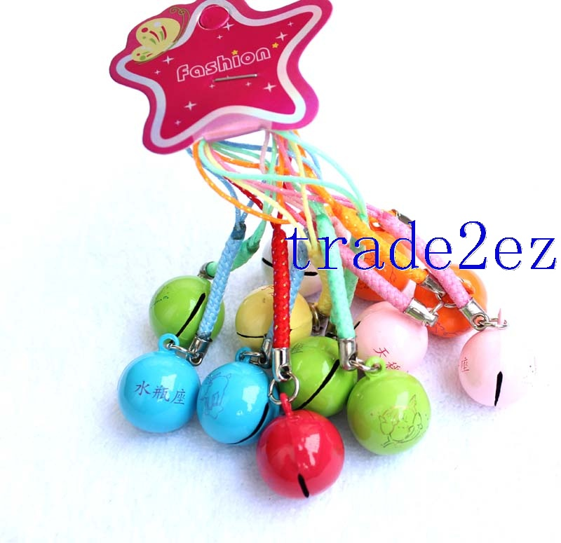 Different Twelve Constellations Strap & Bell Charms