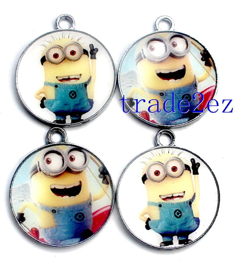 Animation Despicable Me Cartoon Metal Round Pendants