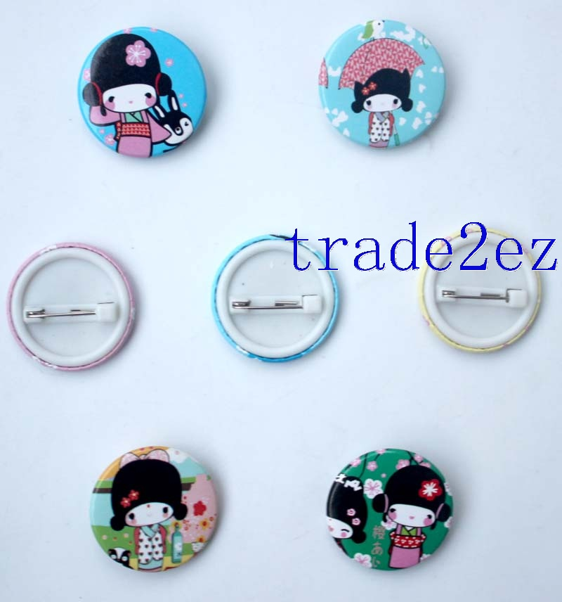 Cherry girl 2.5cm badge Badge & Buttons