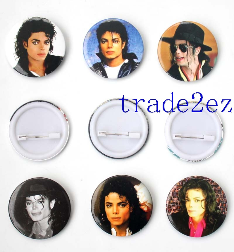 Star Michael Jackson 4.3cm badge Badge & Buttons