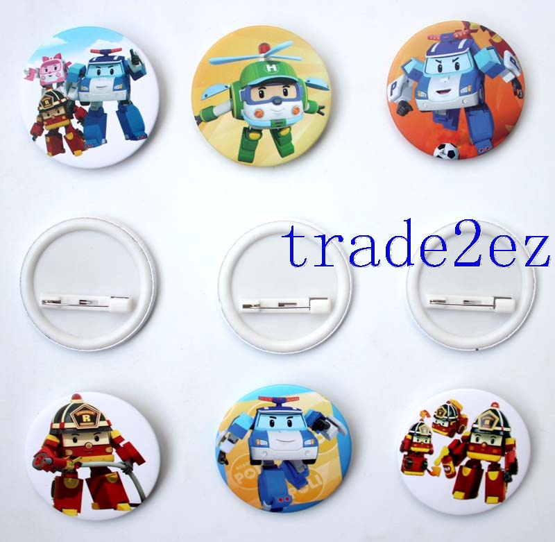 Animation Rbocar Poli 4.5cm Cartoon Badge & Buttons