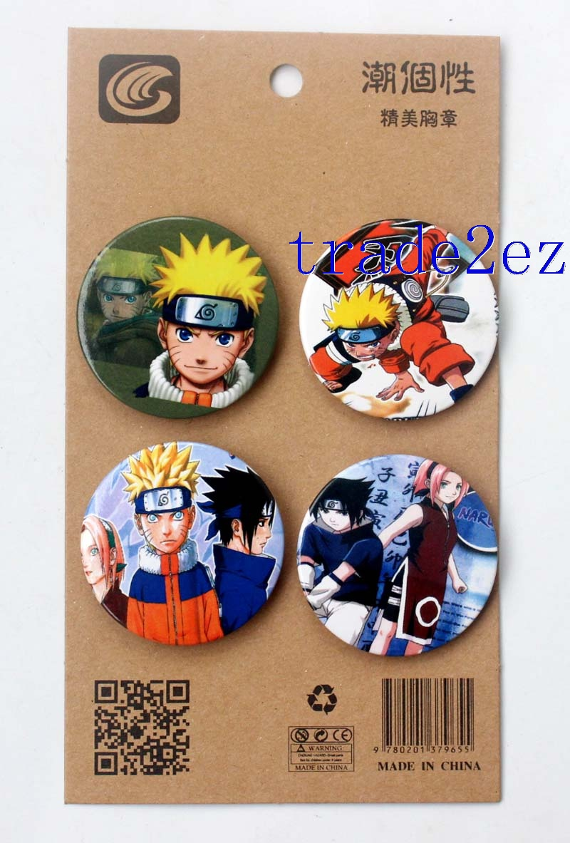 Anime Style Naruto 4.3CM Cartoon Badge and Buttons