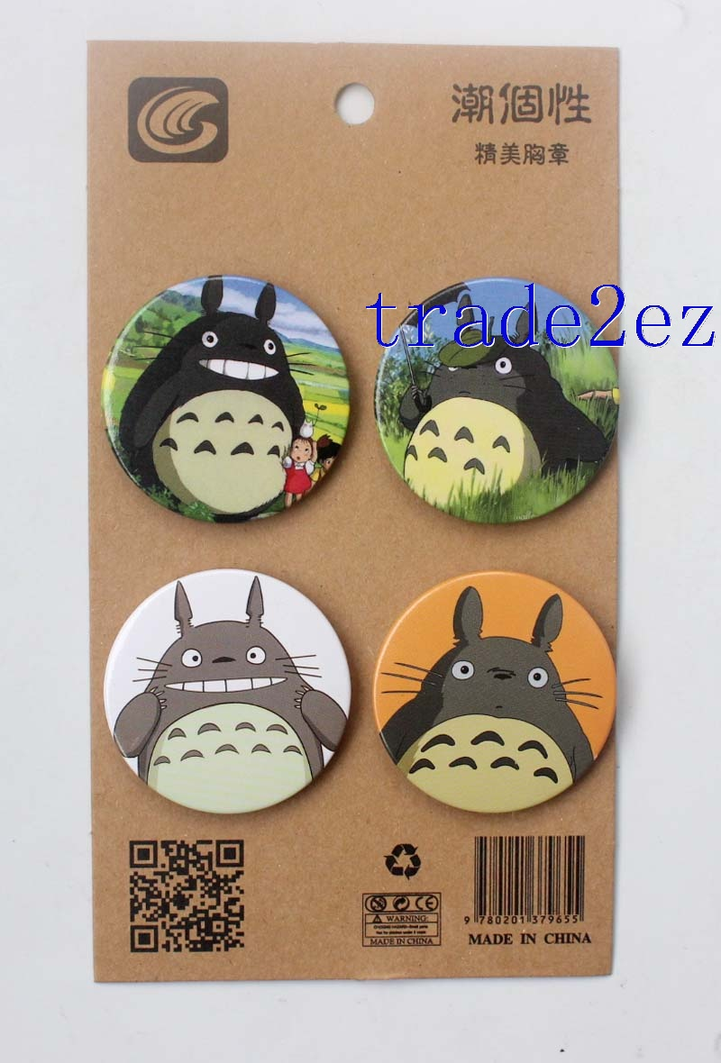 Anime My Neighbor Totoro 4.3CM Cartoon Badge and Buttons