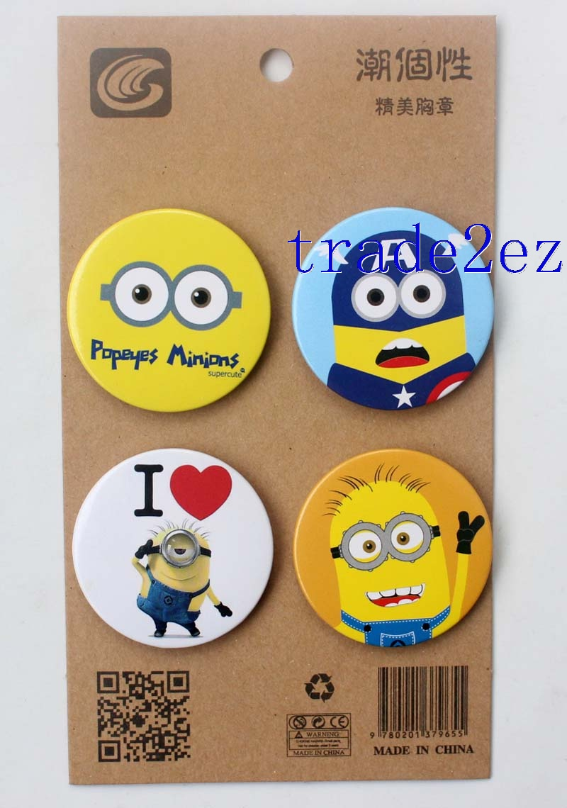 Minions Despicable me 4.3CM Cartoon Badge and Buttons