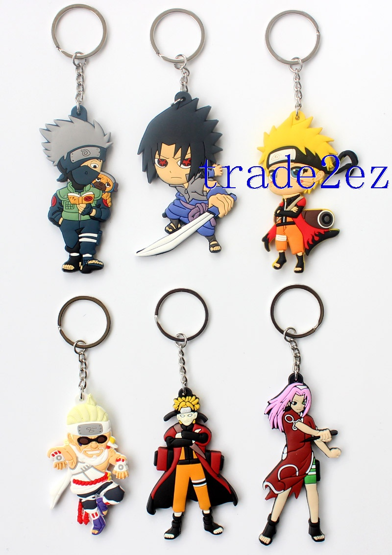 Anime Naruto Character Double sided PVC Keychains