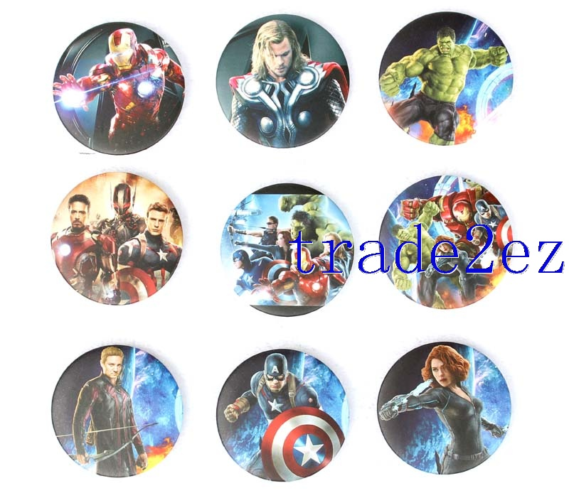 Marvel's The Avengers 4.5cm Cartoon Badge and Buttons