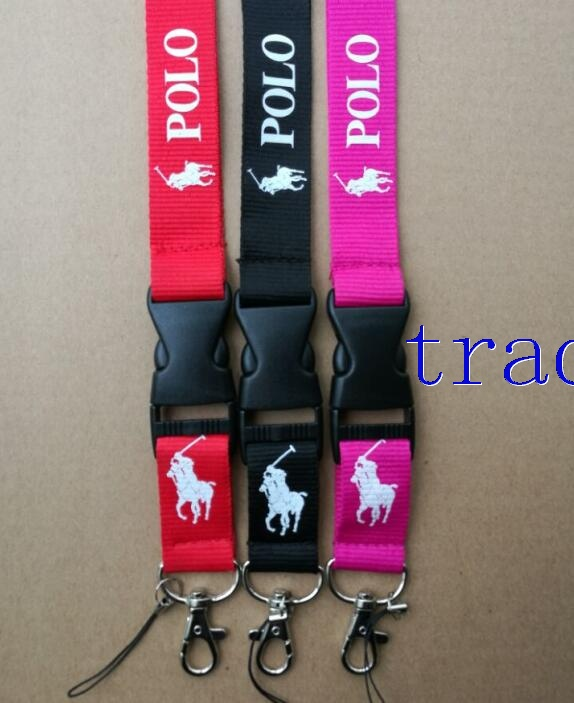 Polo Lanyard Red Pink and Black