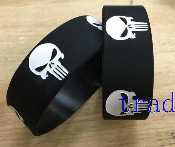 The Punisher Wristband Silicone Bracelet