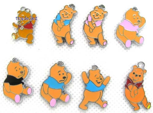 Winnie The Pooh DIY Metal Charms Jewelry Making