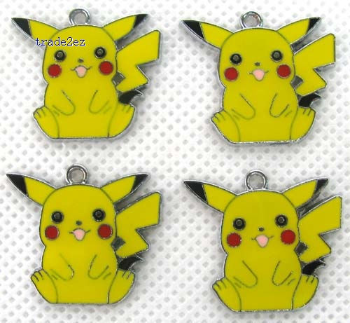 Pikachu Jewelry Making Metal Charm pendants