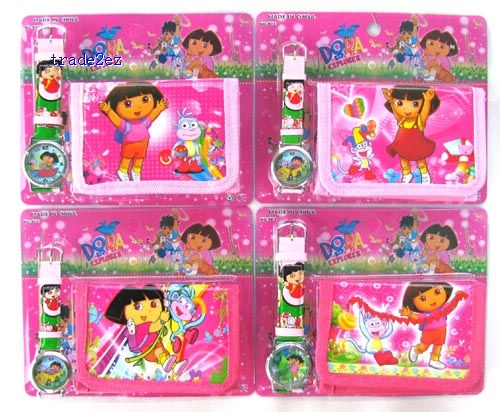 Dora Watch with purse wallets