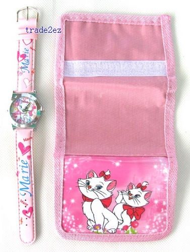 Marie Cat love watch Wristwatches and purses Wallet