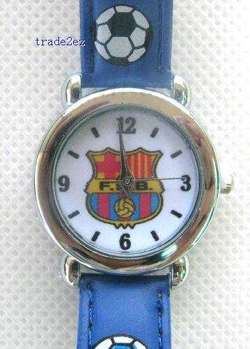Futbol Club Barcelona boy's Girl's Cartoon Spiderman watch with boxes
