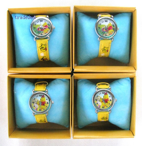 Winnie The Pooh Cartoon watches with boxes Wholesale new