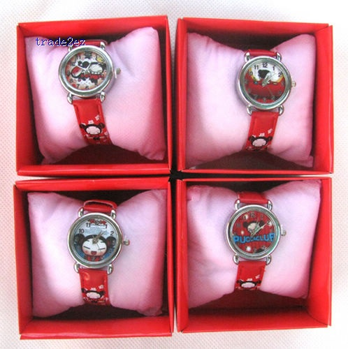 Pucca Cartoon Watches Wristwatch box Child Christmas Gift Boys Girls