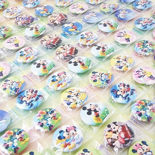 Mickey Mouse Minnie Mouse 2.5 cm Button Pins Badge Wholesale