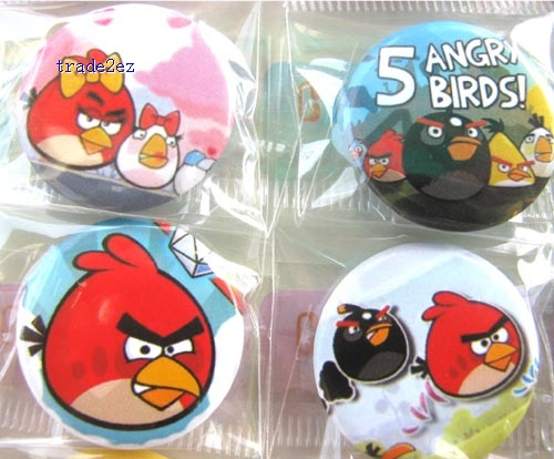 Angry Birds Fashion 2.5 cm pin Badge