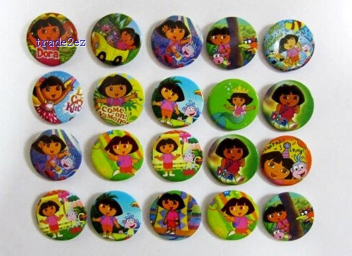 Dora Badges Pins BIG SALES Kids Party Gift RANDOM