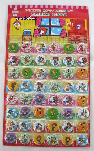 mickey Mouse Badges Pins BIG SALES Kids Party Gift RANDOM