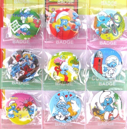 The Smurfs 3cm Fashion Badges pin brooch,chilren clothing decoration