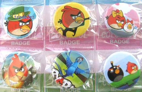 Angry Birds 3 cm Badges Pins BIG SALES Kids Party Gift RANDOM