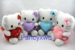 Hello Kitty with heart Doll Soft Toy