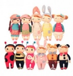 Metoo rabbit angela the girl plush toy doll placarders doll child gift