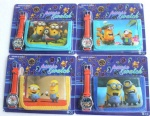 Despicable Me kids part Set watch Wristwatch and wallet purse