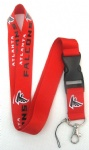 Atlanta Falcons Key Chain Lanyard Cell Phone Ipod Strap Neck Pass Logo Keychain ID